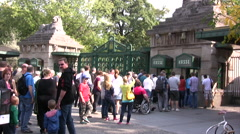 Entrance to Berlin Zoo - stock footage
