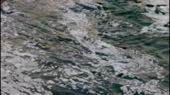 Current  river water with foam Stock Footage