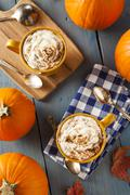 autumn pumpkin spice latte - stock photo