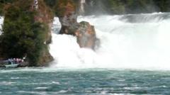 Stock Video Footage of particular of the majestic Rhine Falls, Schaffhausen - Switzerland