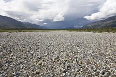 Stone Beach, Bonnet Plume River, Yukon, Canada Stock Photos
