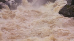 A river reaches massive flood stage. - stock footage