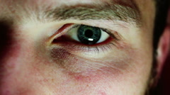 Male Eye Looks Stock Footage