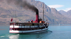 STEAMSHIP STEAMER COAL POWERED FIRED Stock Footage