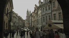 Charles Bridge in Prague, Czech Republic Stock Footage