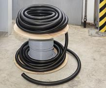 Cable coil Stock Photos