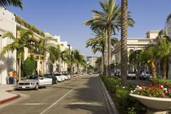 View Down Rodeo Drive, Beverly Hills, California, USA Kuvituskuvat