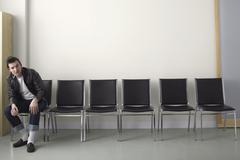 Rebel in Waiting Area - stock photo