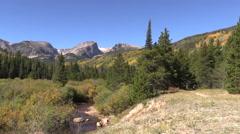 Rocky Mountain Landscape in Fall Stock Footage