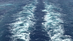 Mediterranean Ocean wakes behind cruise ship 4K 020 - stock footage