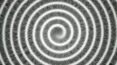 Psychedelic hypnotic spiral abstract backgrounds Stock Footage