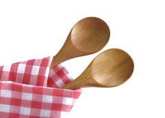 Stock Photo of wooden spoon utensils