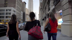 Empire State Building Manhattan New York City Women Walking NYC 4K 5th Ave Stock Footage