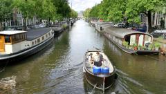 4K Canal Ring Area of Amsterdam Stock Footage