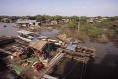 Stock Photo of Tonle Sap Area, Cambodia