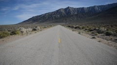 Driving along Remote Mountain Road, Western USA - stock footage