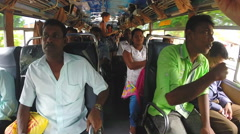 View of people inside a crowded bus. Stock Footage