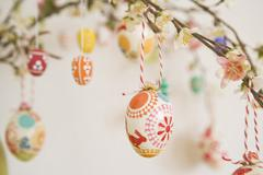 Close-up of Easter Egg Decorations Stock Photos