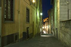 Stock Photo of Narrow Street, Siena, Tuscany, Italy