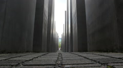 low angle of Memorial to the Murdered Jews of Europe - stock footage