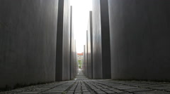 Memorial to the Murdered Jews of Europe - stock footage