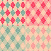 Stock Illustration of seamless argyle pattern. diamond shapes background. vector set.