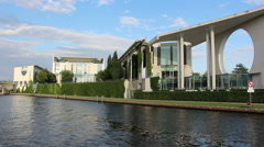 German Federal Chancellery in Berlin, Germany Stock Footage