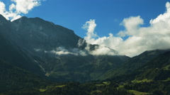 4K time lapse of the hilly countryside landscape in Austria Stock Footage