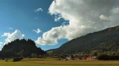 4K time lapse of an idyllic landscape in Austria Stock Footage