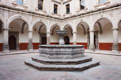 Fountain, Autonomous University of Queretaro, Queretaro, Mexico Stock Photos