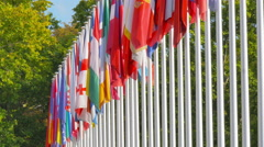4K Flags of the member states of the Council of Europe Stock Footage