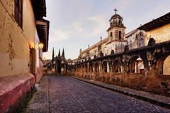 Templo del Santuario, Patzcuaro, Michoacan, Mexico Stock Photos