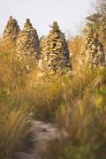 Stone Towers in Korean Country Side, South Korea Kuvituskuvat
