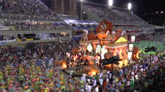 CARNIVAL RIO DE JANEIRO - MARCH 4  View from the tribunes over the Carnival i - stock footage