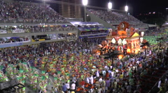 CARNIVAL RIO DE JANEIRO - MARCH 4  View from the tribunes at the Carnival in  Stock Footage
