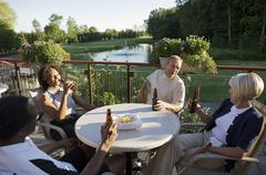 Friends at Country Club, Burlington, Ontario, Canada - stock photo