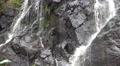 4k Schistous rock waterfall pan right closeup 4k or 4k+ Resolution