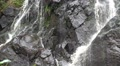 Schistous rock waterfall pan right closeup HD Footage