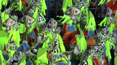 CARNIVAL RIO DE JANEIRO - MARCH 4  Dancers in colorful customs at the Carniva Stock Footage