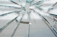 Broken Glass Stock Photos