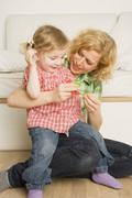 Mother and Daughter Playing - stock photo