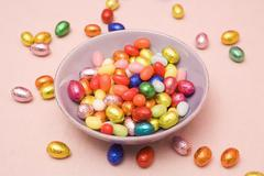 Bowl of Easter Candy - stock photo