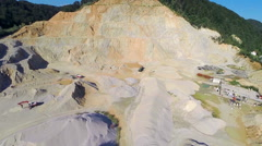 Flying over dirt location for sand mining Stock Footage