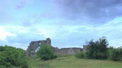 Plateau Baba-Dag. Cave city Mangup-Kale, Crimea, Russia, Full HD Stock Footage