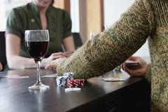 Friends Playing Poker Stock Photos