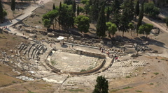 Athens Greece Theater Dionysus Eleuthereus 4K Stock Footage