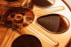 Close-up of Film Reel Stock Photos