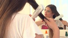 Hair straightening irons - stock footage
