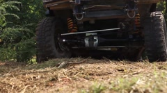 Under car Off road - stock footage