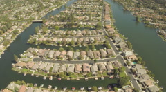 Aerial Shot of Westlake Village Stock Footage